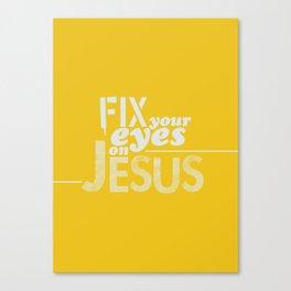 Hebrews 12:1-3 Canvas Print