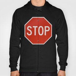 Red Traffic Stop Sign Hoody