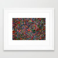 brain Framed Art Prints featuring Brain by C Z A V E L L E