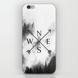 Foggy Forest Compass iPhone Skin
