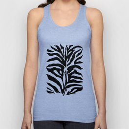 Black and white Zebra Stripes Design Unisex Tank Top