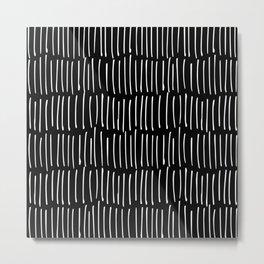 Black and White Minimal Stripe Metal Print