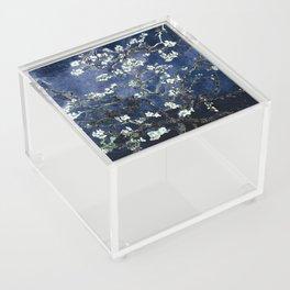 Vincent Van Gogh Almond Blossoms Dark Blue Acrylic Box