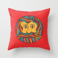 circle Throw Pillows featuring Circle by Brad Hansen
