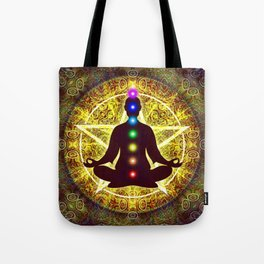 In Meditation With Chakras - Spiritual I Tote Bag