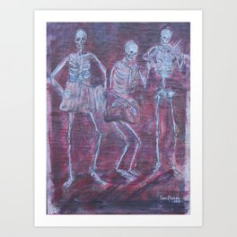 Dancing with the Dead Art Print
