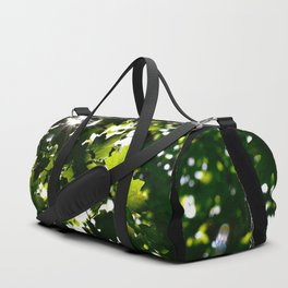 Green Maple Leaf PattrnTree Leaves Parallax Sunshine Shows Leaves Green Color Duffle Bag