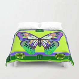 Fantasy Butterfly Gemmed Framework Design Duvet Cover