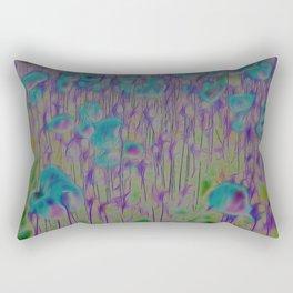 Corn Poppy Blue Rectangular Pillow