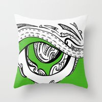 mad max Throw Pillows featuring Mad Max by Inailau Hut