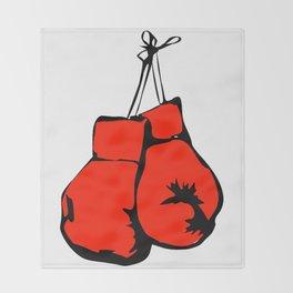 Hanging Boxing Gloves Throw Blanket