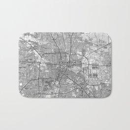 Houston Texas Map (1992) BW Bath Mat