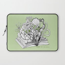 Book of Design - Zentangle Illustration for Children Laptop Sleeve