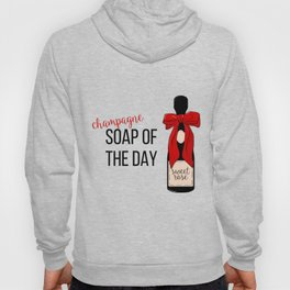 Champagne party print Hoody