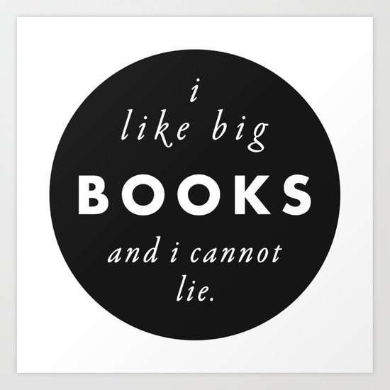 Big Books Love Art Print