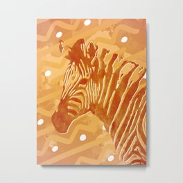 Savanna Zebra Metal Print