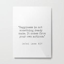 Dalai Lama Happiness Metal Print
