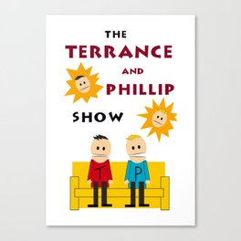 The Terrance and Phillip Show Poster on T-shirt Canvas Print
