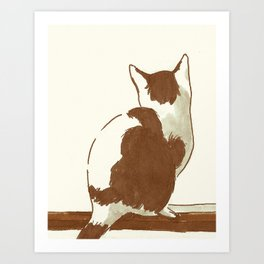 Guinevere The Cat Art Print