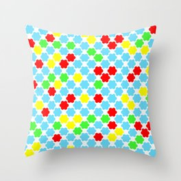Fun summer pattern . Throw Pillow