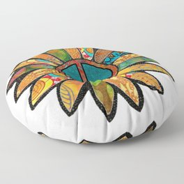 Earthy Peace Flower Floor Pillow