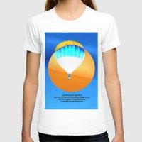 hot air balloon T-shirts featuring Cold Hot Air Balloon by Annaleta Nichols