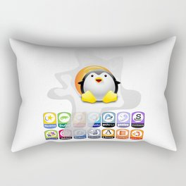 LINUX SUNNY SIDE UP VERSIONS Rectangular Pillow