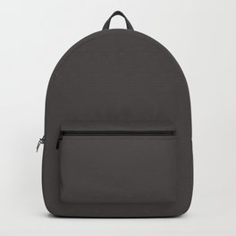 Solid Black Cow Color Code #4C4646 Backpack