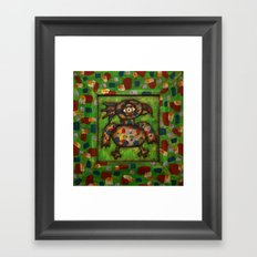 The Green Parrot Framed Art Print