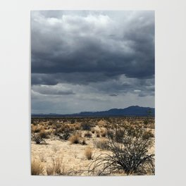 California desert under the clouds Poster