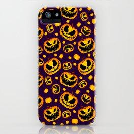 Spooky Halloween Pumpkins iPhone Case