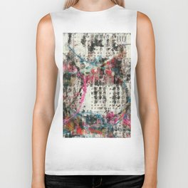 Analog Synthesizer, Abstract painting / illustration Biker Tank