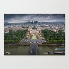 Storm approaching over Paris Canvas Print