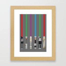Lightsabers Framed Art Print