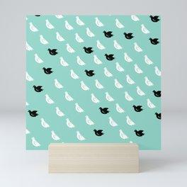 Flock of pigeons Mini Art Print
