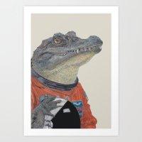 Floridian Gator Art Print