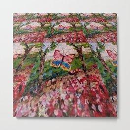 """"""" Butterfly Garden """" Metal Print"""