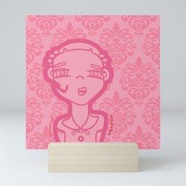 AGATHA (pink) Mini Art Print
