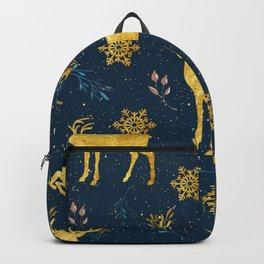 Golden Reindeer Backpack