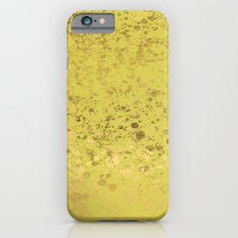 Green Sheen and Gold Patina Design iPhone Case