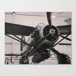 Vintage Military propeller aircraft photo print. Canvas Print