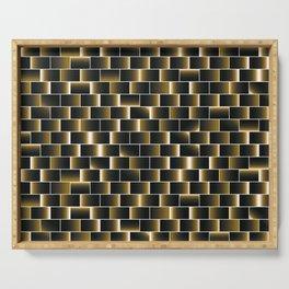 Golden set of tiles Serving Tray