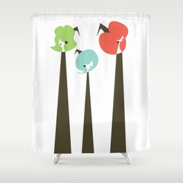Three Witches Observe Shower Curtain