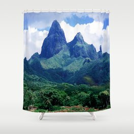 The Land That Time Forgot: Marquesas Tropical Islands Shower Curtain