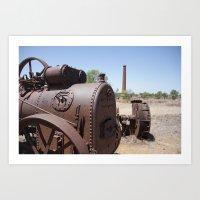 Mine Machinery Art Print