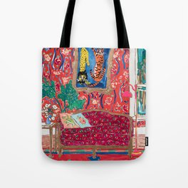 Red Interior with Lion and Tiger after Matisse Tote Bag