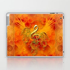 Clef with flowers Laptop & iPad Skin