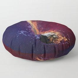 Cool Music Guitar Fire Water Artistic Floor Pillow