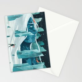 The wanderer and the ice forest Stationery Cards