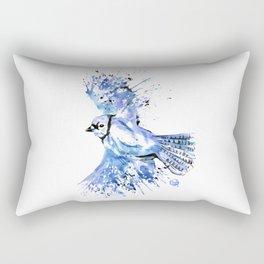 Blue Jay - Colorful Watercolor Bird Painting - Bluetiful Rectangular Pillow